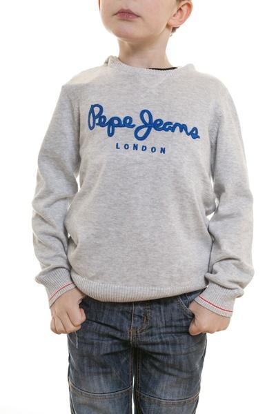 Pull textile enfant Pepe Jeans gris chiné              title=