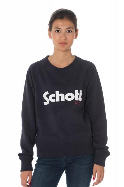 Marineblaues kurzes Damen Sweatshirt von Shott