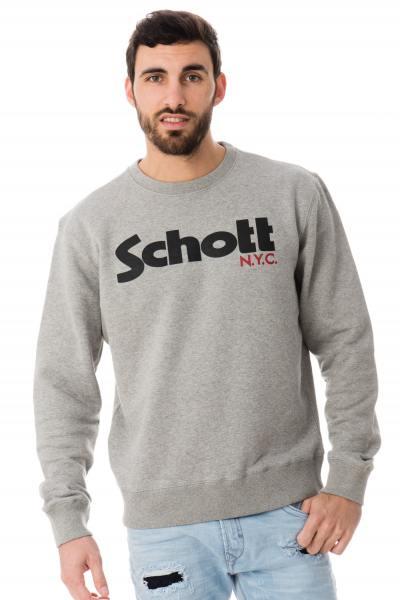 graumelierters originales Schott-Sweat-Shirt              title=