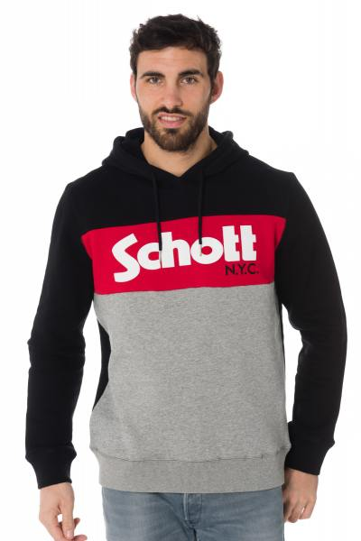 Pull/Sweatshirt Homme Schott SWHOOD BLACK/HGREY/RED