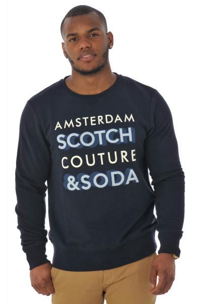 marineblaues Herren-Sweatshirt              title=