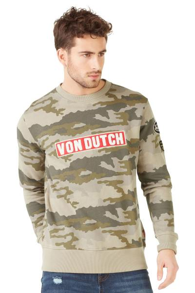 Pull/Sweatshirt Homme Von Dutch SWEAT CLINT CAMOUFLAGE