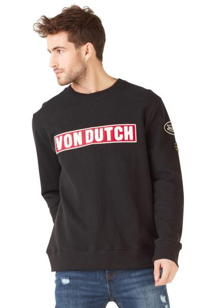 Pull/Sweatshirt Homme Von Dutch SWEAT CLINT NOIR