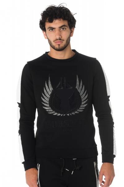 Schwarz-weißes Herren Sweatshirt mit Strass von Horspist
