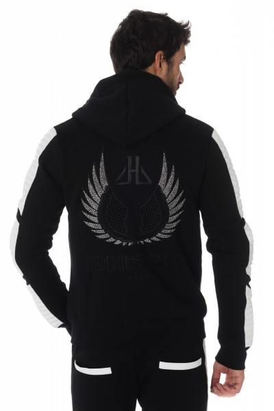 Pull/Sweatshirt Homme horspist LEEDS M300 BLACK/WHITE