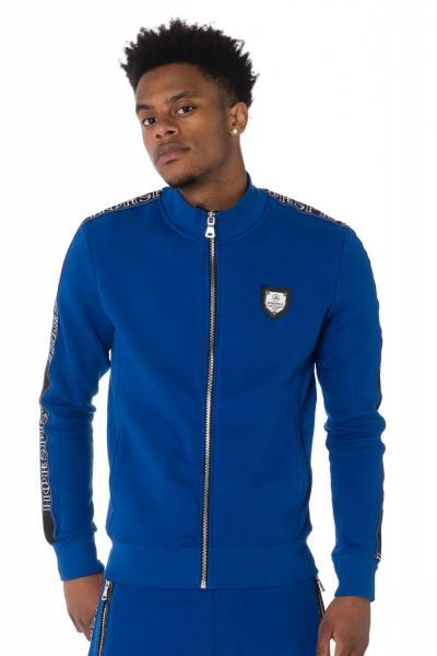 königsblauer Reißverschluss-Sweater Horspist