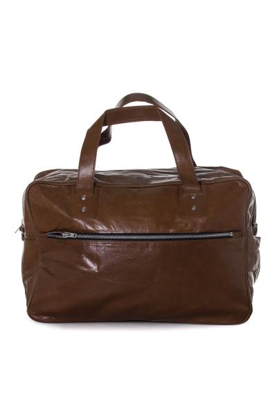 cognacfarbene Reisetasche aus Büffelleder Serge Pariente