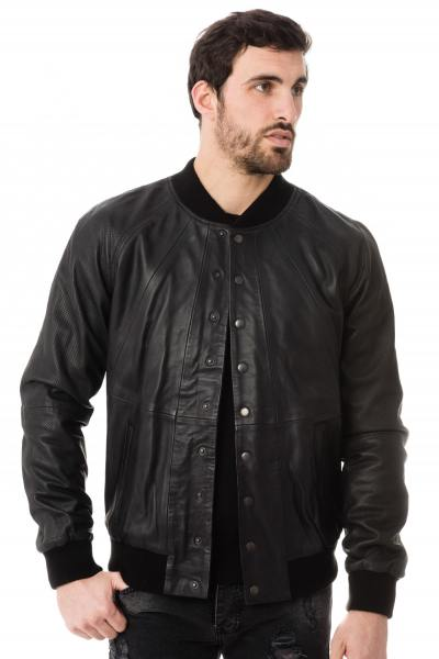 Blouson Homme Napp Jeans COLLEGE PERFORATED JACKET BLACK ZZ