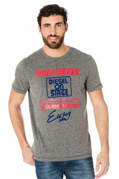 Tee-shirt homme gris Diesel               title=