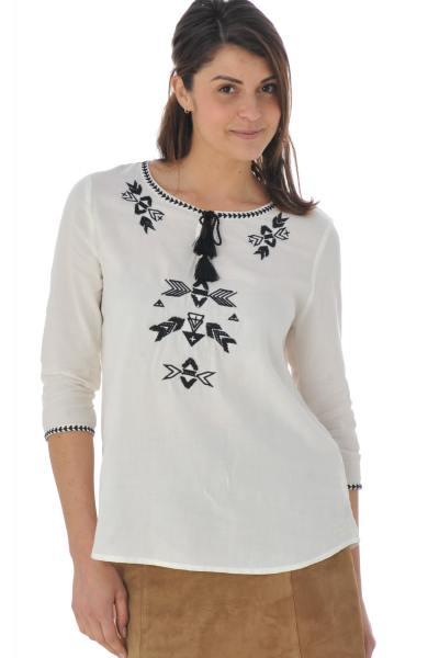 Tee Shirt Femme Kaporal LIFE OFF WHITE