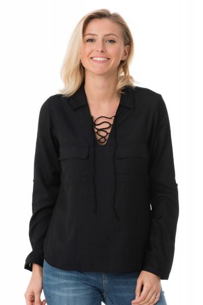 Tee Shirt Femme Kaporal ALDA BLACK P17