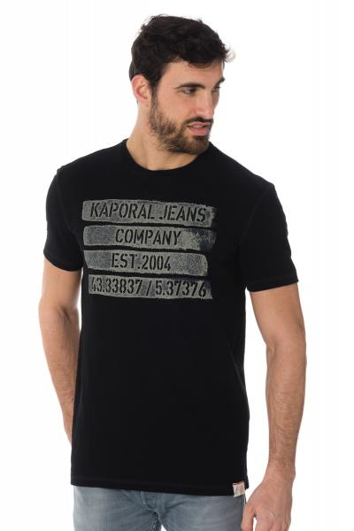 Tee Shirt Homme Kaporal POPEK BLACK