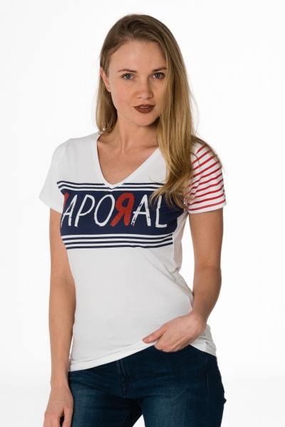 Tee Shirt Femme Kaporal BOWEL WHITE