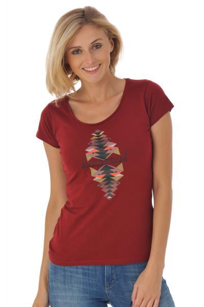 Tee-shirt femme avec imprimé sur le devant              title=