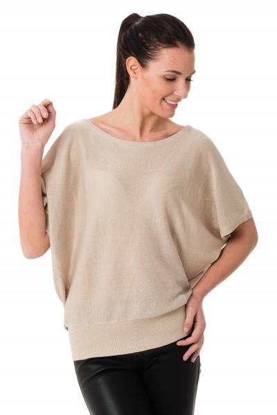 Tee-shirt habillé chic pour femme coloris beige doré              title=