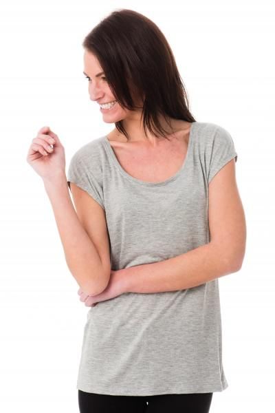 Tee-shirt simple et élégant Kaporal gris              title=