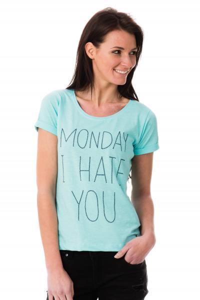 Tee-shirt uni bleu turquoise kaporal