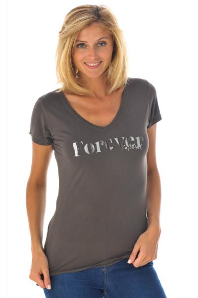 asphaltfarbenes t-Shirt Forever Kaporal