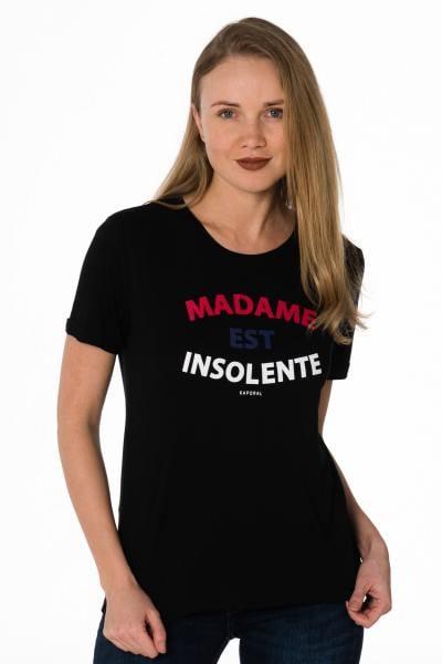 """schwarzes Damen T-Shirt """"MADAME EST INSOLENTE"""""""