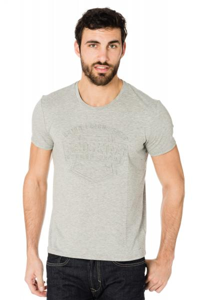 Tee Shirt Homme Redskins NORTH CALDER GREY CHINE