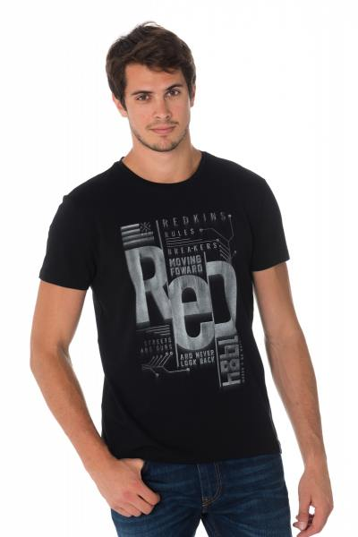 Tee Shirt Homme Redskins RULER CALDER BLACK H18