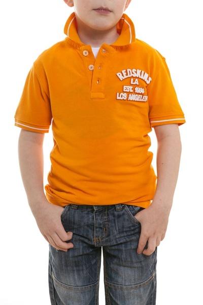Polo enfant manches courtes Redskins orange              title=