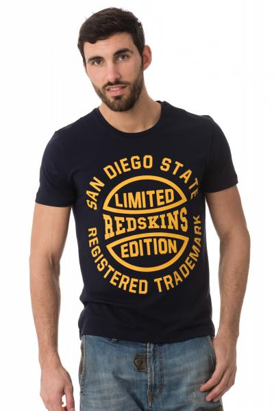 Tee Shirt Homme Redskins KESINGSTON CALDER NAVY YELLOW H16