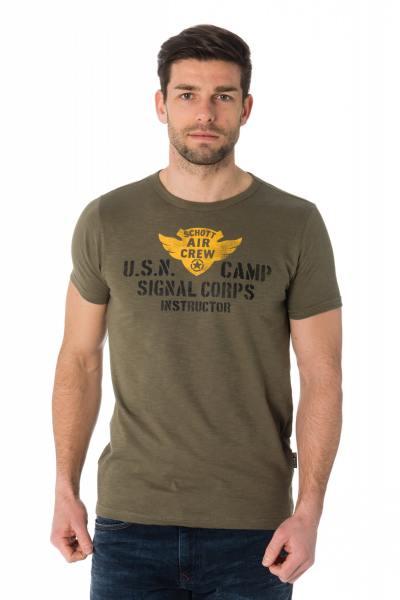 Tee Shirt Homme Schott TSCAMP KAKI