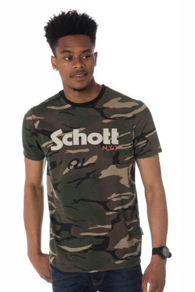 Tee Shirt Homme Schott TSLOGO CAMO/KAKI
