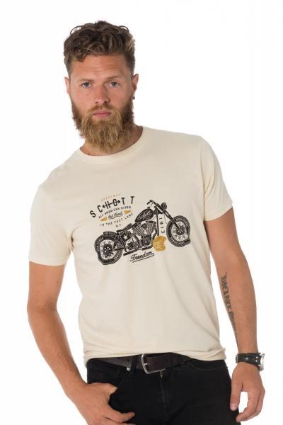 Tee Shirt Homme Schott TSJACK ECRU