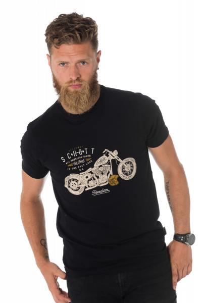 Tee Shirt Homme Schott TSJACK BLACK