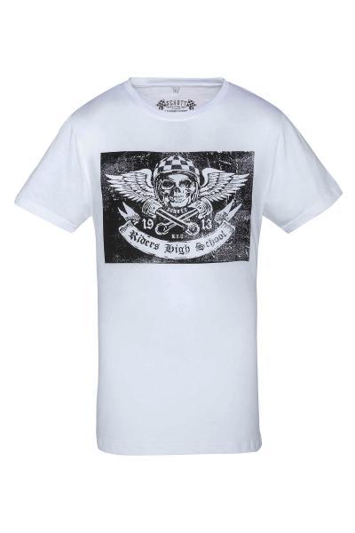 Tee Shirt Homme Schott TSANGEL2 WHITE
