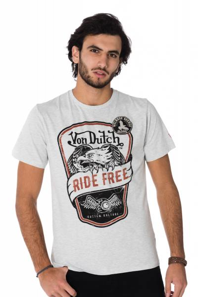 Tee Shirt Homme Von Dutch T SHIRT EAGLE GRC