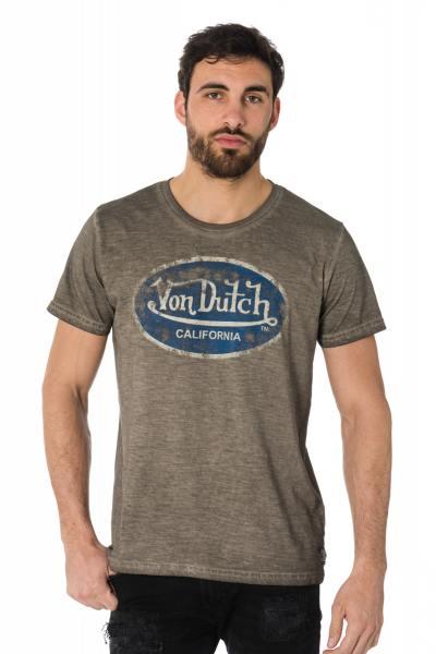 Tee-shirt gris effet délavé Von Dutch              title=