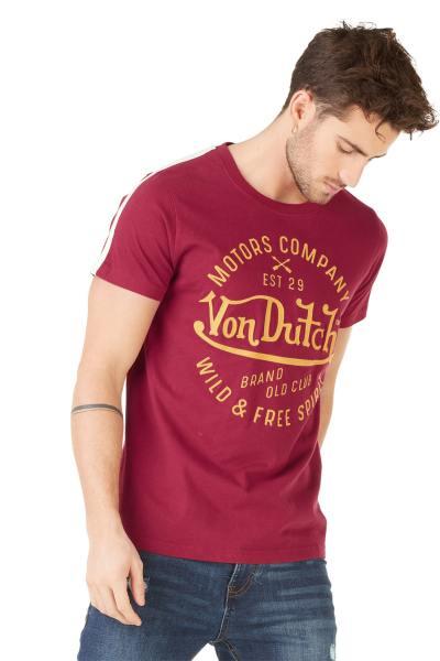 bordeauxrotes Herren T-Shirt