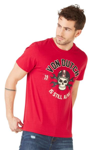 Tee Shirt Homme Von Dutch T SHIRT RAGS ROUGE