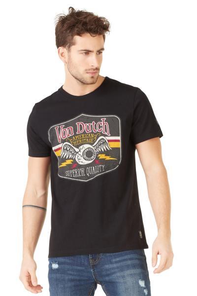 schwarzes Herren T-Shirt mit dem geflügelten Auge              title=
