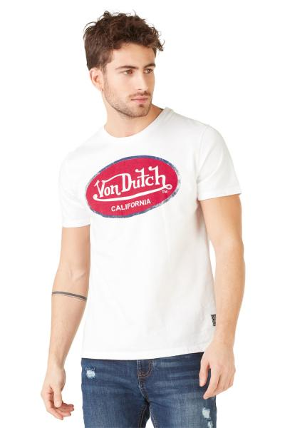 Tee Shirt Homme Von Dutch T SHIRT AARO WHITE