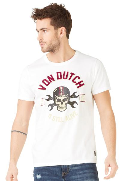 Tee Shirt Homme Von Dutch T SHIRT RAGS BLANC
