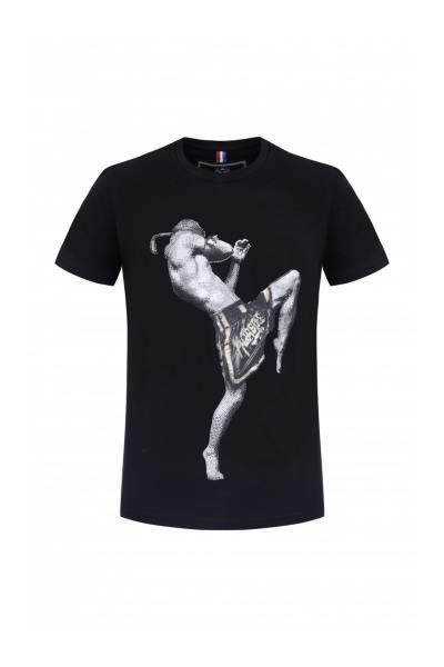 Tee Shirt Homme horspist KICK M500 BLACK