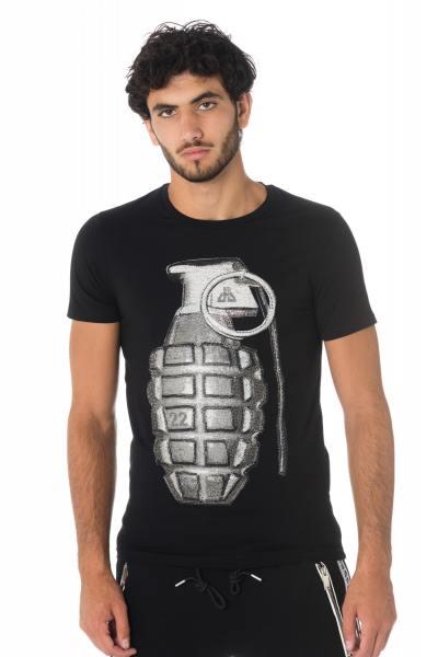 Herren T-Shirt mit Handgranate in Strass