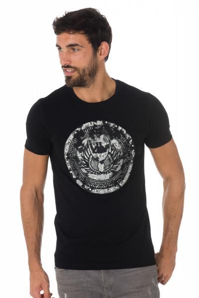 Tee Shirt Homme horspist DERBY M500 BLACK/SILVER