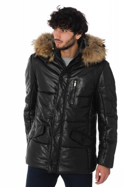 Veste Homme BUGATTI 5609 FEATHER NAPPA 999 BLACK