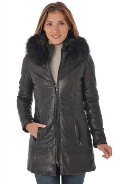 Veste Femme Daytona APENE FUR SHEEP AOSTA REDDISH BROWN FOURRURE MARRON