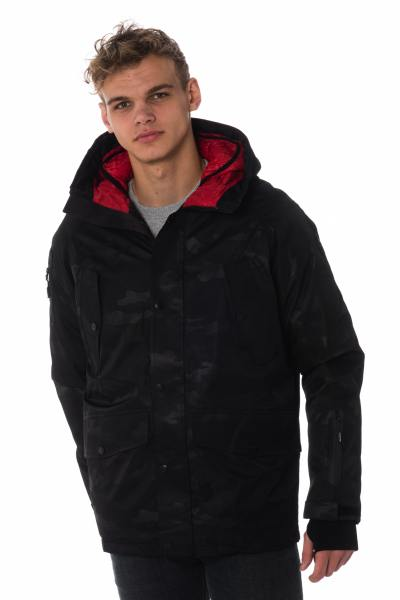 Parka camouflage anthracite homme Helvetica              title=