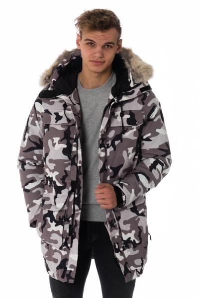 Parka camouflage clair homme Helvetica              title=