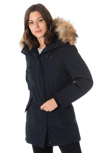 Veste Femme Helvetica EXPEDITION WOMEN EWARM RACCOON EDITION NAVY