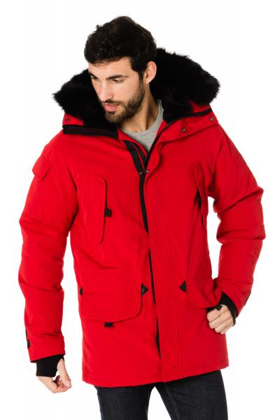 Veste Homme Helvetica EXPEDITION MEN BLACK EDITION ROUGE