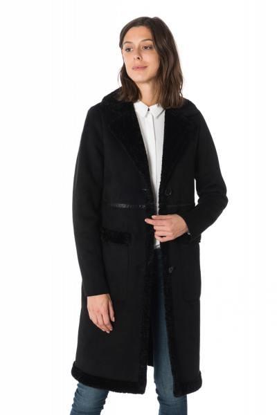 Manteau femme en fausse fourrure