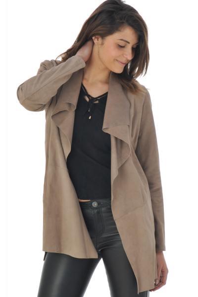 Damen-Trenchcoat aus Leder              title=